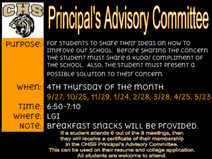 Principal's Advisory Committee Meeting picture